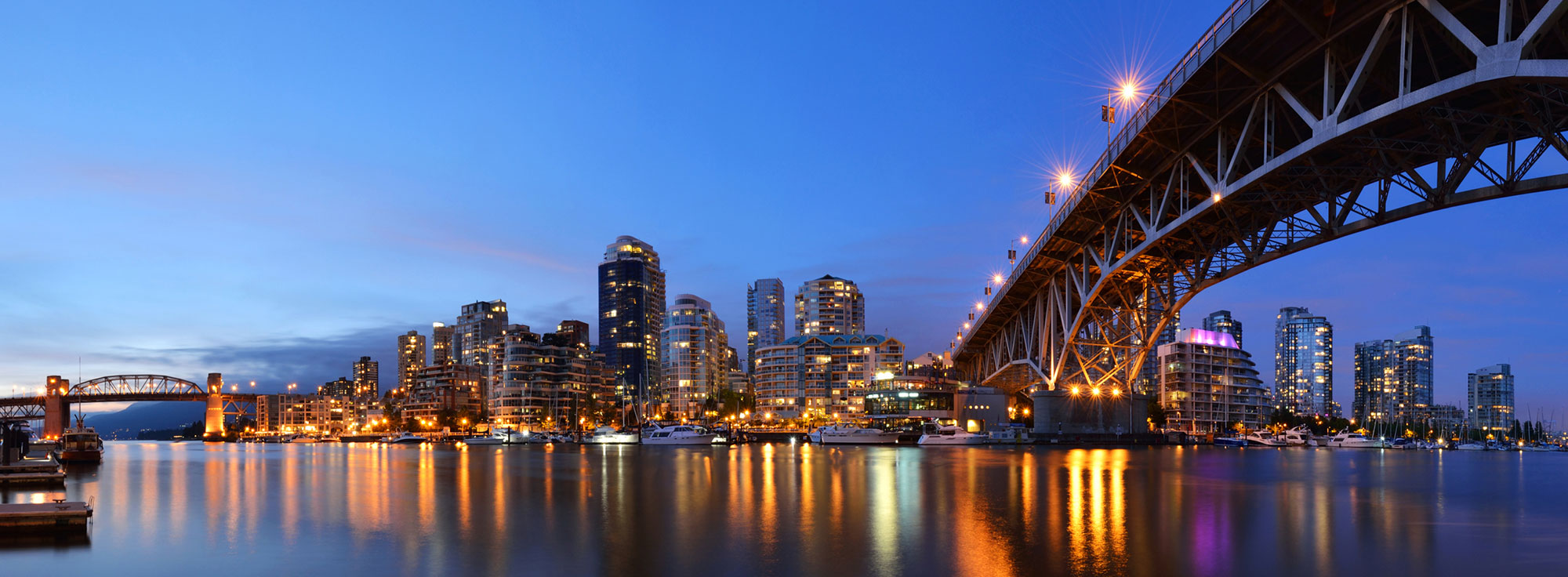 Vancouver Night City View