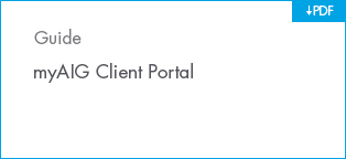 myAIG Client Portal one-pager